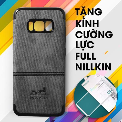 Ốp lưng dẻo Galaxy S8 Plus Ivan xám + Kính cường lực