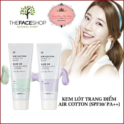 Kem Lót Kiềm Dầu Air Cotton Makeup Base SPF30 - 6606202 , 13273373 , 15_13273373 , 95000 , Kem-Lot-Kiem-Dau-Air-Cotton-Makeup-Base-SPF30-15_13273373 , sendo.vn , Kem Lót Kiềm Dầu Air Cotton Makeup Base SPF30