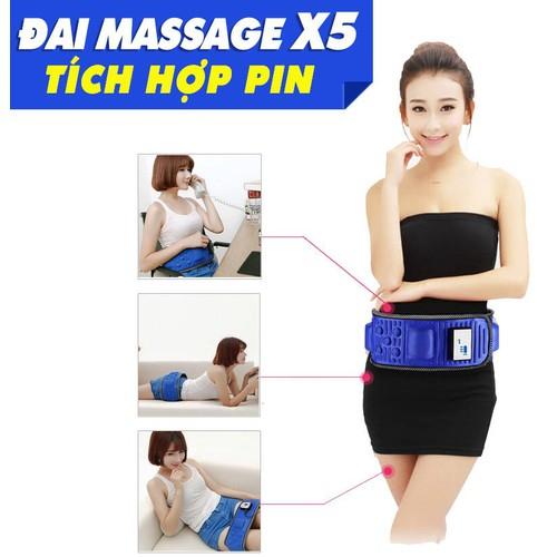 Đai massage dùng pin X5