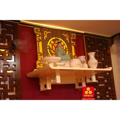 Bàn thờ Phật màu trắng - Giá : 2,700,000 đ