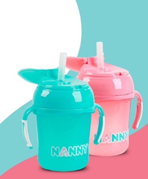 Bình tập uống nước có tay cầm 240ml Nanny Thái Lan 6