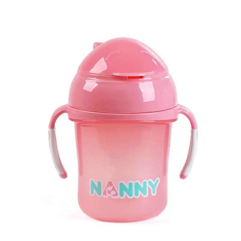 Bình tập uống nước có tay cầm 240ml Nanny Thái Lan 3