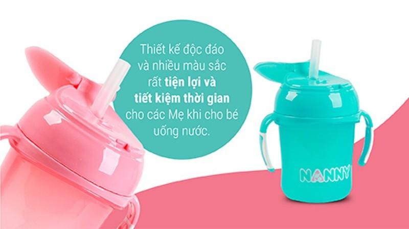 Bình tập uống nước có tay cầm 240ml Nanny Thái Lan 5