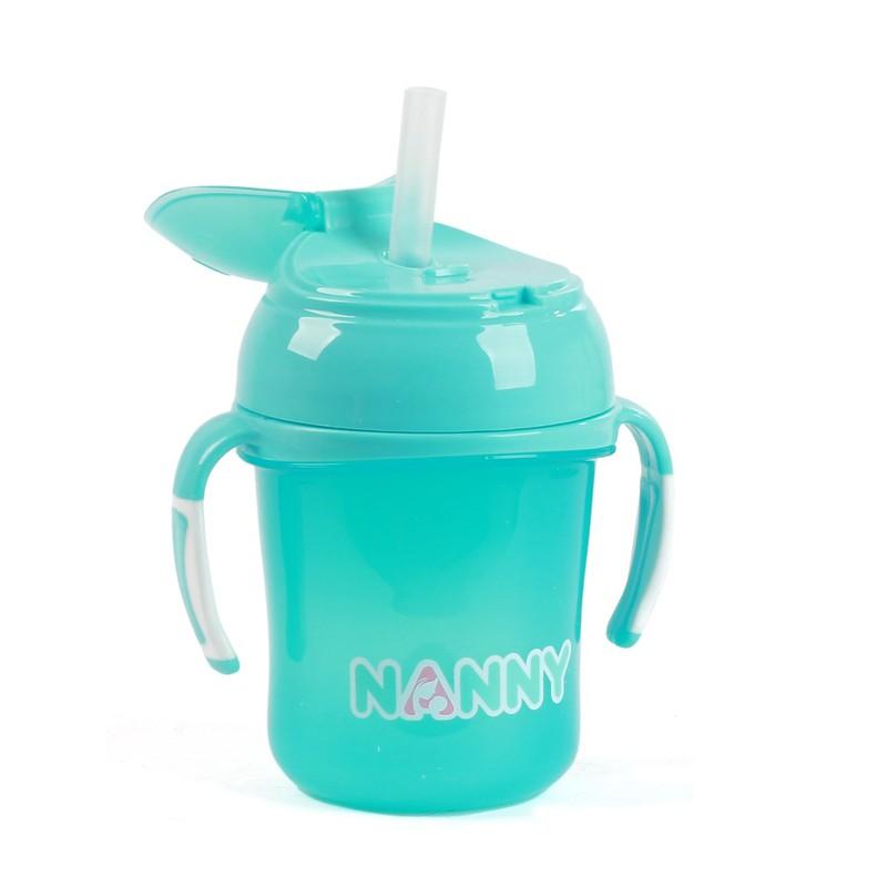 Bình tập uống nước có tay cầm 240ml Nanny Thái Lan 4