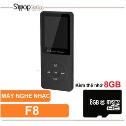 Máy nghe nhạc MP3 Music Player F8 8GB + Thẻ Nhớ 8GB