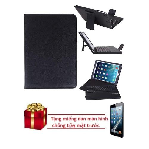 Bao da bàn phím bluetooth iPad Air tặng miếng dán màn hình chống trầy