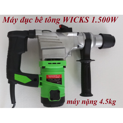 Máy khoan đục betong  WICKS 1.500w - 7239756 , 13929076 , 15_13929076 , 899000 , May-khoan-duc-betong-WICKS-1.500w-15_13929076 , sendo.vn , Máy khoan đục betong  WICKS 1.500w
