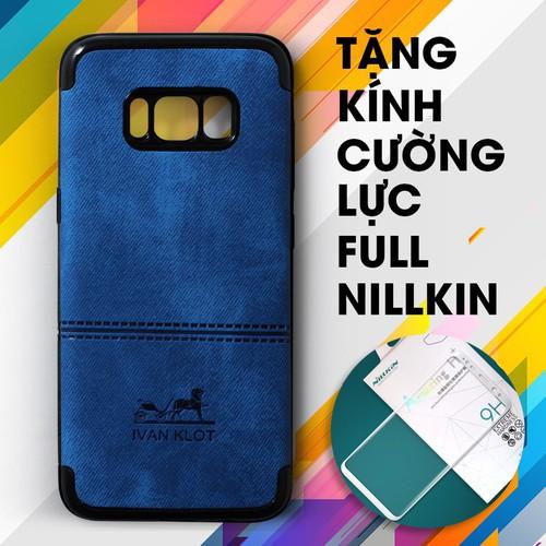 Ốp lưng dẻo Galaxy S8 Plus Ivan xanh + Kính cường lực