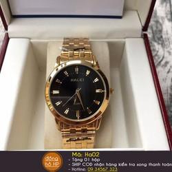 Đồng hồ nam Halei dây vàng