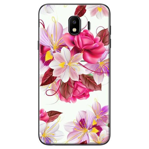 Ốp lưng nhựa dẻo Samsung J4 Bông hoa