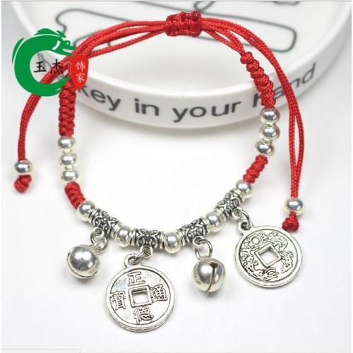 Vòng tay dây rút chỉ đỏ Đồng tiền may mắn phong thủy - 4476466 , 11403765 , 15_11403765 , 35000 , Vong-tay-day-rut-chi-do-Dong-tien-may-man-phong-thuy-15_11403765 , sendo.vn , Vòng tay dây rút chỉ đỏ Đồng tiền may mắn phong thủy