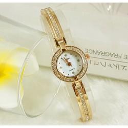 Đồng hồ nữ thời trang mặt và dây đính đá sang trọng JW013
