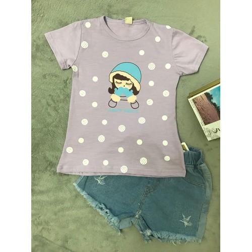 áo phông bé gái