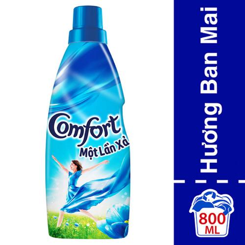 Nước xả vải Comfort hương ban mai chai 800ml