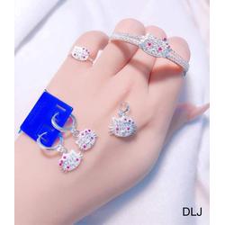 Bộ bạc Hello Kitty cho bé gái