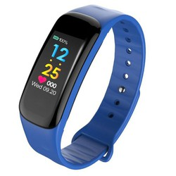 Đồng hồ thông minh vòng theo dõi sức khỏe đo nhịp tim C18 xanh