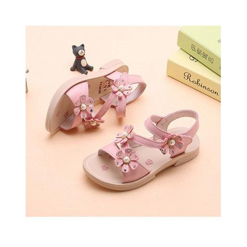 Sandal cho bé gái đính hoa-15SD099