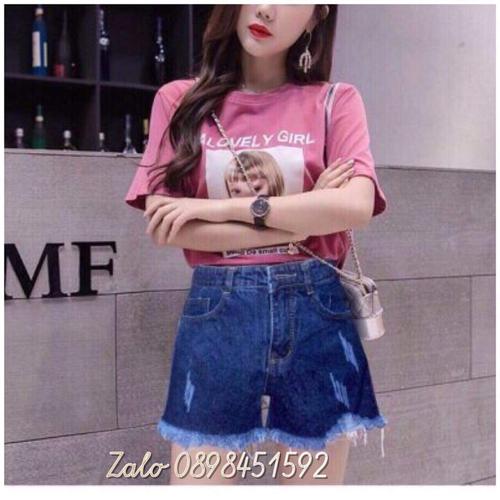 Quần short jean nữ baby