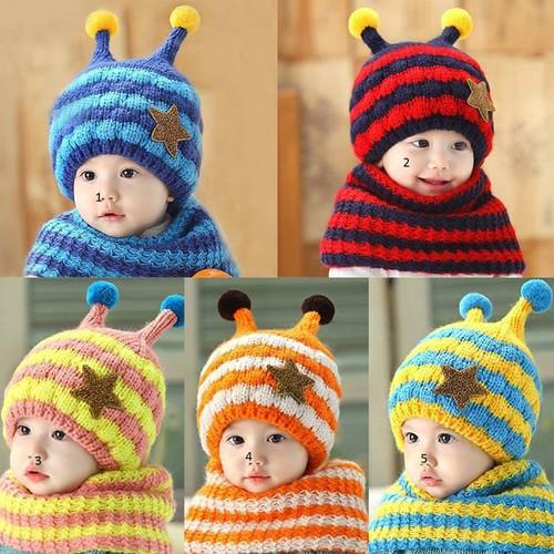 Bộ Mũ Khăn Len Cho