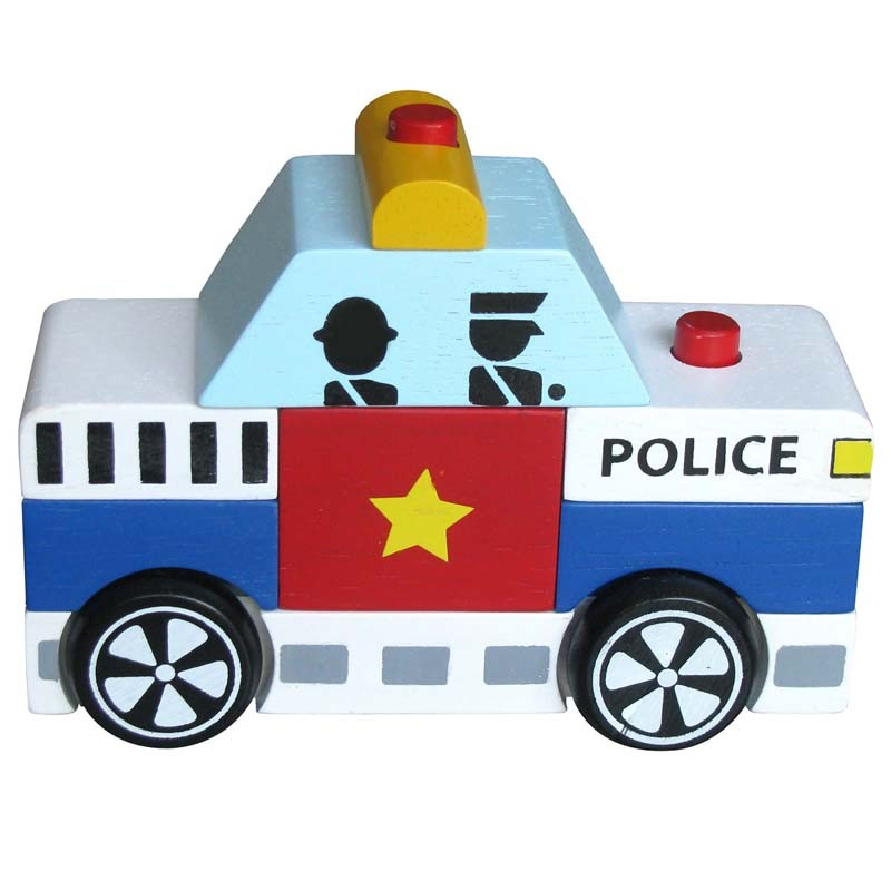 [Đồ chơi gỗ WinWinToys] Bộ lắp ráp xe cảnh sát 60292 - KL00235