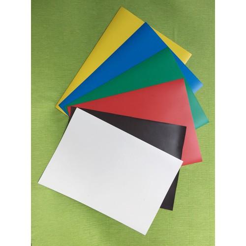 Combo 6 tờ Nam châm lá A4 – nam châm dẻo – đủ màu