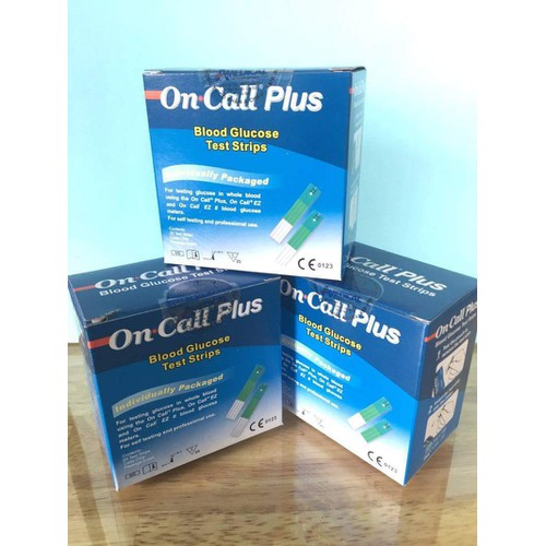 Combo 3 hộp que thử đường huyết On Call Plus On Call EZ II Acon USA