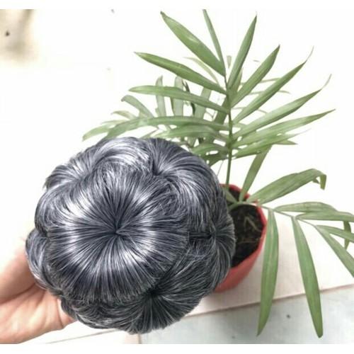 tóc kẹp búi hoa