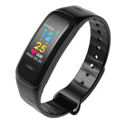 Đồng hồ thông minh vòng theo dõi sức khỏe đo nhịp tim C18 đen