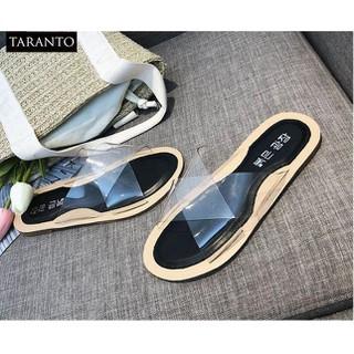 Dép lê nữ quai chéo trong suốt thương hiệu TARANTO TRT-DLNU-02-DE - TRT-DLNU-02-DE thumbnail