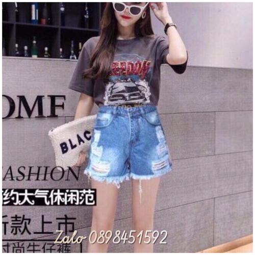 Quần short jean nữ rách xinh