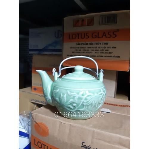 ấm trà xanh ngọc