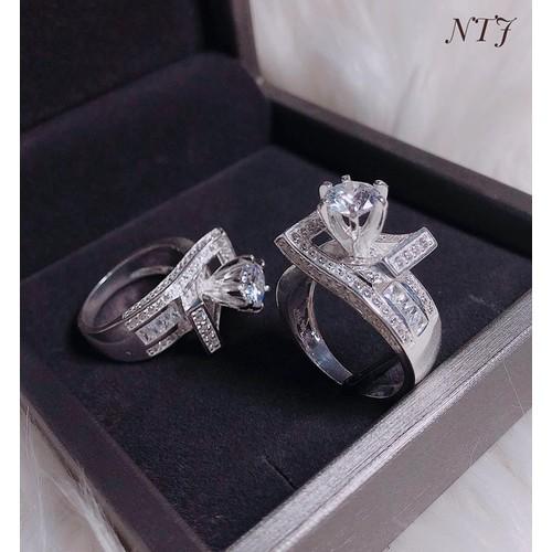 nhẫn bạc nữ cá tính đẹp