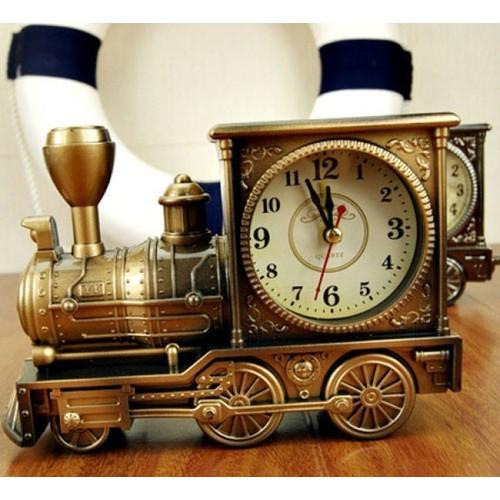 Đồng hồ để bàn hình tàu hoả Train hẹn giờ báo thức