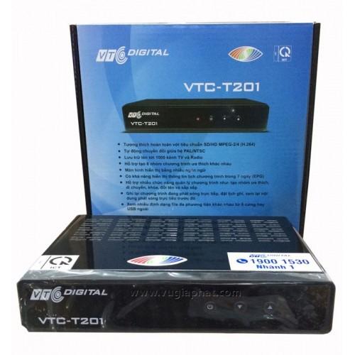 Đầu thu truyền hình KTS VTC T201 kèm anten và dây cáp 12m