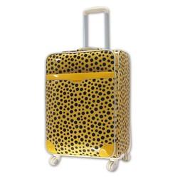 Vali thời trang nữ chất liệu PVC size nhỏ hình chấm bi vàng TL030