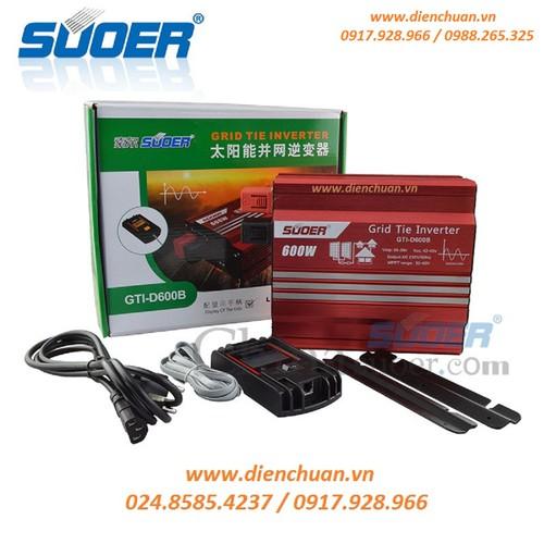 Bộ hòa lưới điện 600W 24V 220V Suoer GTI-D600B