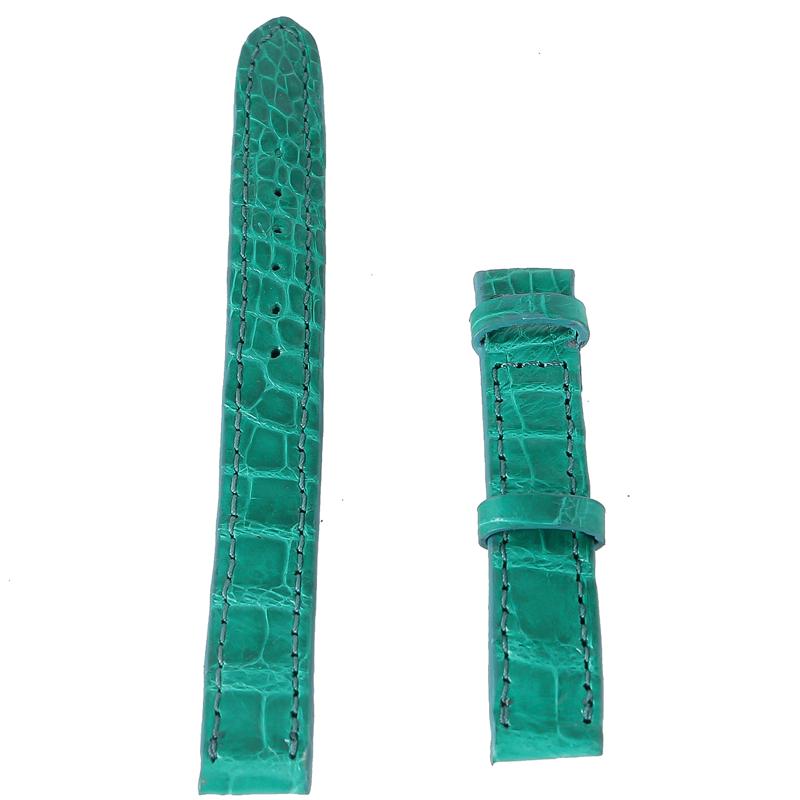 Dây đồng hồ huy hoàng da cá sấu size 12, 14 màu xanh lá EH8265