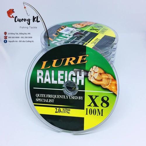 Dù bện x8 7 màu raleigh 100m # 2.0 - 0.235mm