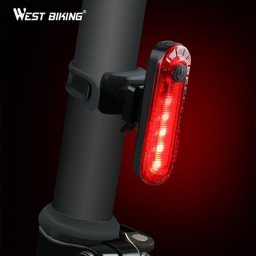 Đèn Xe Đạp Cảnh Báo Pin Sạc 4 Chế Độ West Biking Chính Hãng
