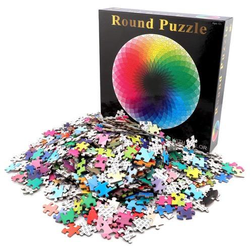 Tranh xếp hình | Round Jigsaw Puzzles, Rainbow Palette Puzzles