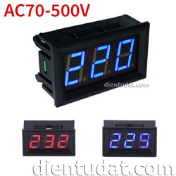 Đồng hồ đo AC 70 - 500V Blue