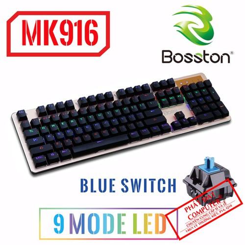 Bàn phím cơ bosston mk916 - blue switch  9 chế độ led - bh 12 tháng - 13092294 , 10966966 , 15_10966966 , 730000 , Ban-phim-co-bosston-mk916-blue-switch-9-che-do-led-bh-12-thang-15_10966966 , sendo.vn , Bàn phím cơ bosston mk916 - blue switch  9 chế độ led - bh 12 tháng