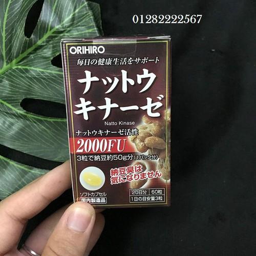 Viên uống hỗ trợ điều trị tai biến Nattokinase 2000FU Orihiro Nhật Bản