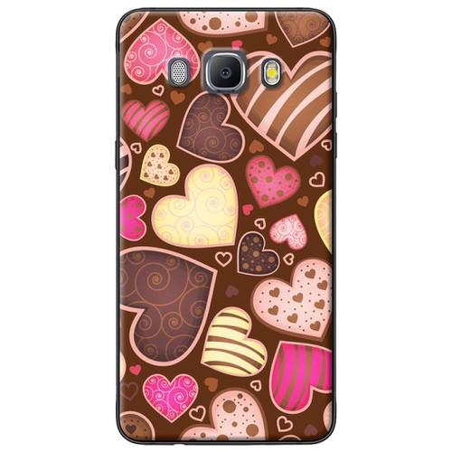 Ốp lưng nhựa dẻo Samsung J7 2016 Trái tim sắc màu