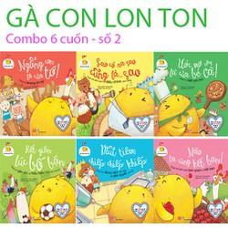 Sách - GÀ CON LON TON combo bộ 6 cuốn v2