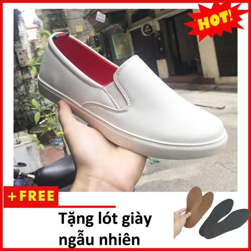 Giày Lười Nam | Giày nam đẹp M498-TRANG+L