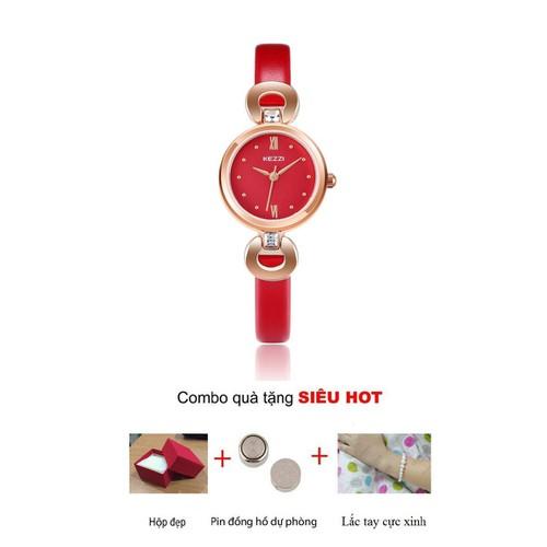 Đồng hồ nữ Kezzi dây da cực xinh