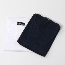 Combo 2 Áo tay ngắn vải lưới sọc