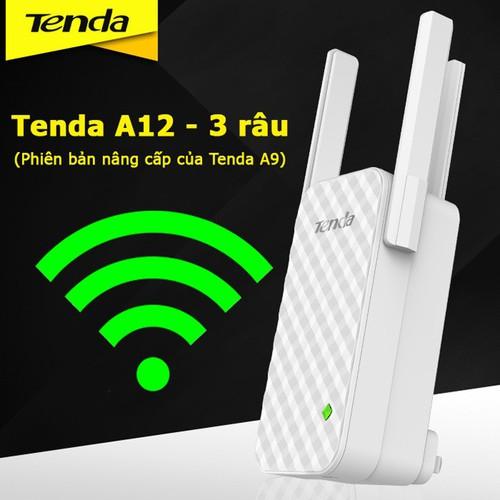 Bộ kích sóng wifi Tenda A12 Repeater Wireless 3 râu