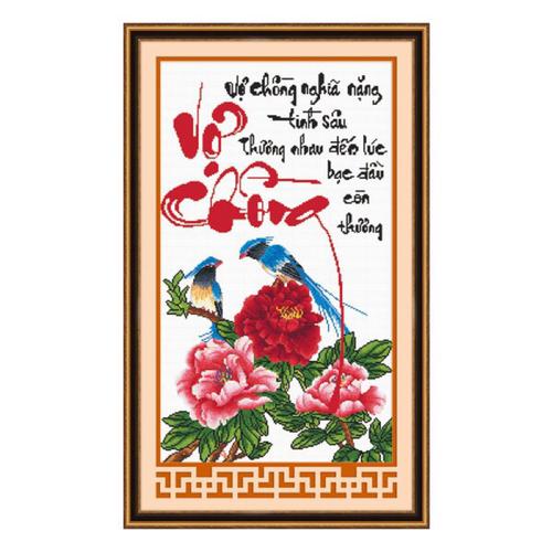 Tranh thêu chữ thập Vợ chồng nghĩa nặng tình sâu - Đôi chim mẫu đơn - 5090191 , 10952735 , 15_10952735 , 105000 , Tranh-theu-chu-thap-Vo-chong-nghia-nang-tinh-sau-Doi-chim-mau-don-15_10952735 , sendo.vn , Tranh thêu chữ thập Vợ chồng nghĩa nặng tình sâu - Đôi chim mẫu đơn